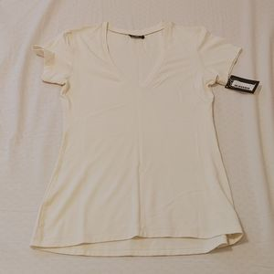 BNWT Miik rayon from bamboo cream basic t shirt